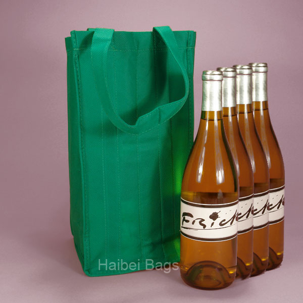 4 Bottles Wine Tote Bag